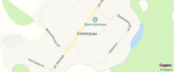 Почтовая улица на карте села Климоуцы с номерами домов