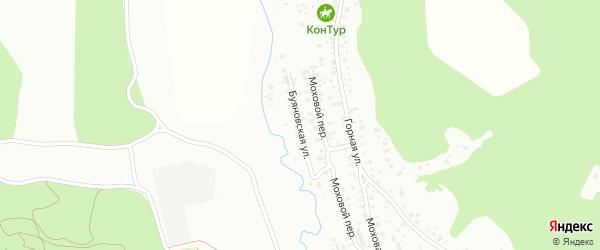 Буяновская улица на карте поселка Моховой Пади с номерами домов
