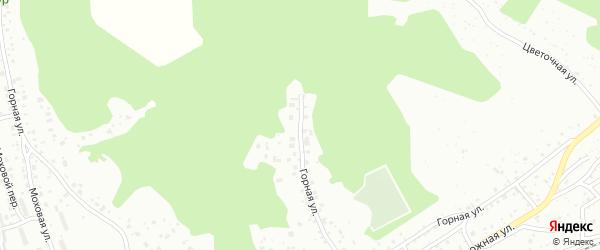 Горная улица на карте поселка Моховой Пади с номерами домов