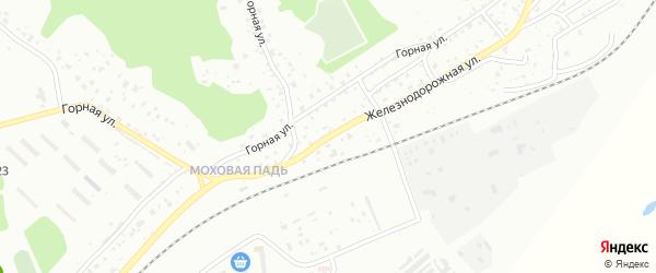 Железнодорожная улица на карте поселка Моховой Пади с номерами домов
