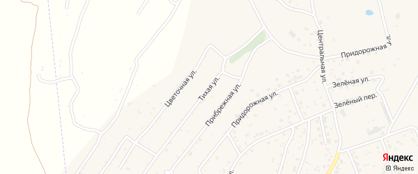 Тихая улица на карте села Владимировки с номерами домов