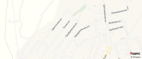 Прибрежная улица на карте села Владимировки с номерами домов