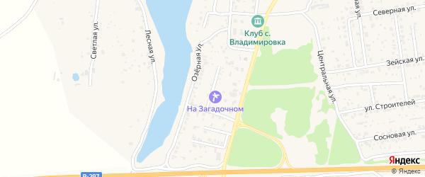 Загадочный переулок на карте села Владимировки с номерами домов