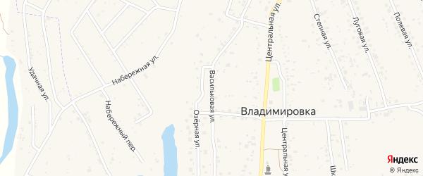 Васильковая улица на карте села Владимировки с номерами домов