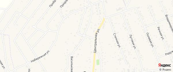 Северный переулок на карте села Владимировки с номерами домов