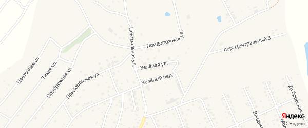 Зеленая улица на карте села Владимировки с номерами домов