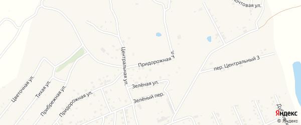 Придорожная улица на карте села Владимировки с номерами домов