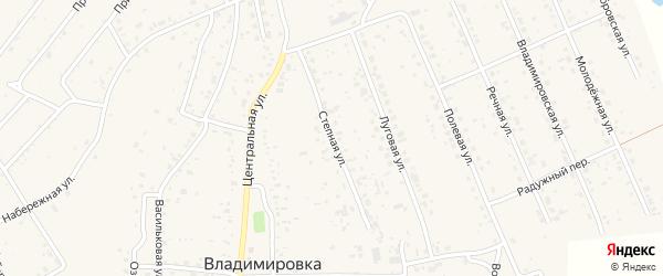 Степная улица на карте села Владимировки с номерами домов