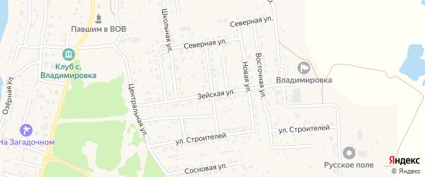 Улица Наполова на карте села Владимировки с номерами домов