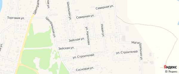 Зейская улица на карте села Владимировки с номерами домов