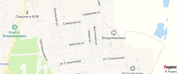 Новая улица на карте села Владимировки с номерами домов
