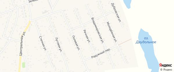 Речная улица на карте села Владимировки с номерами домов