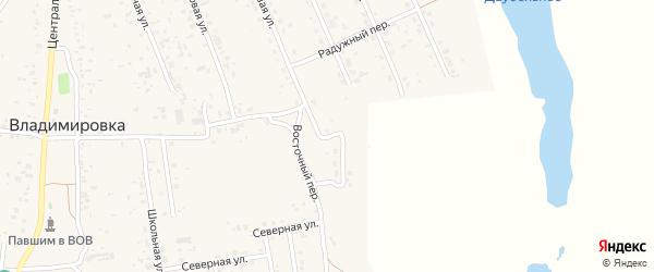 Свободная улица на карте села Владимировки с номерами домов