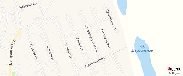 Владимировская улица на карте села Владимировки с номерами домов