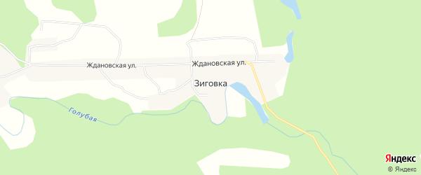Карта села Зиговки в Амурской области с улицами и номерами домов