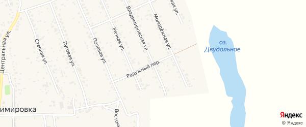 Радужный переулок на карте села Владимировки с номерами домов