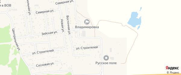 Магистральная улица на карте села Владимировки с номерами домов