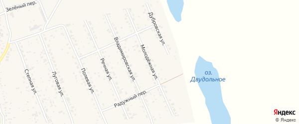 Молодежная улица на карте села Владимировки с номерами домов