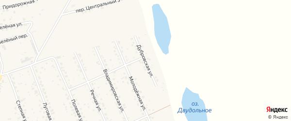 Дубровская улица на карте села Владимировки с номерами домов