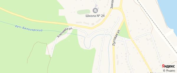 Ключевая улица на карте села Белогорья с номерами домов