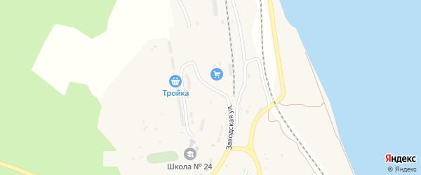 Заводская улица на карте села Белогорья с номерами домов