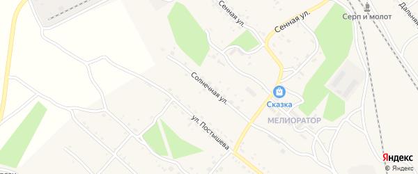 Солнечная улица на карте Шимановска с номерами домов