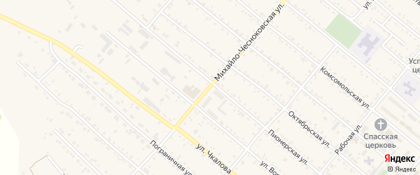 М.Чесноковская улица на карте Шимановска с номерами домов