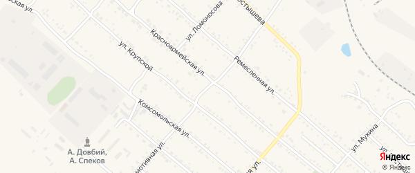 Локомотивная улица на карте Шимановска с номерами домов