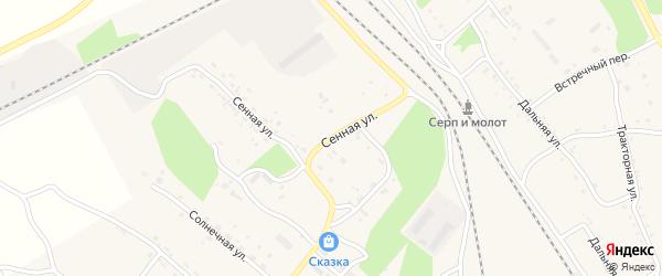 Сенная улица на карте Шимановска с номерами домов