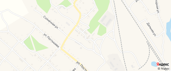 Поселок Мелиоратор на карте Шимановска с номерами домов