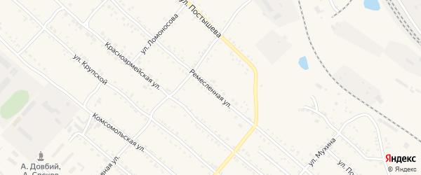Ремесленная улица на карте Шимановска с номерами домов