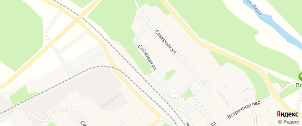 Сосновая улица на карте Шимановска с номерами домов