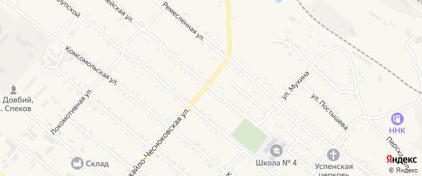 Красноармейская улица на карте Шимановска с номерами домов