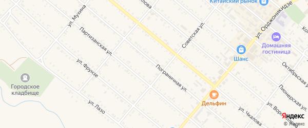 Пограничная улица на карте Шимановска с номерами домов