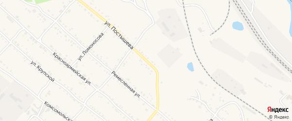 Улица Постышева на карте Шимановска с номерами домов