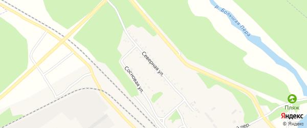 Северная улица на карте Шимановска с номерами домов