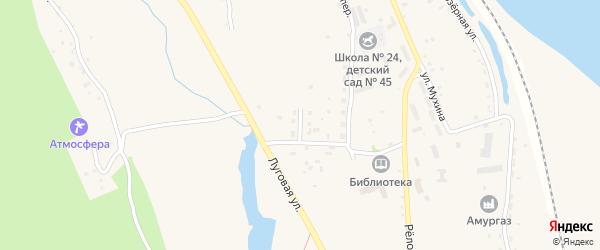 Зеленый переулок на карте села Белогорья с номерами домов
