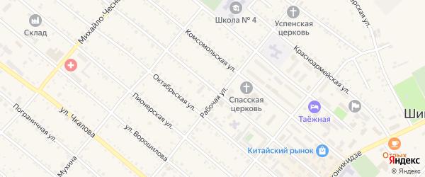 Улица Ленина на карте Шимановска с номерами домов