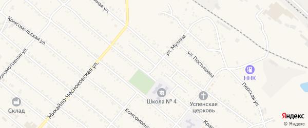 Овражный переулок на карте Шимановска с номерами домов