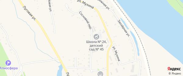 Сосновый переулок на карте села Белогорья с номерами домов