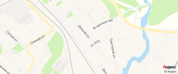 Дальняя улица на карте Шимановска с номерами домов
