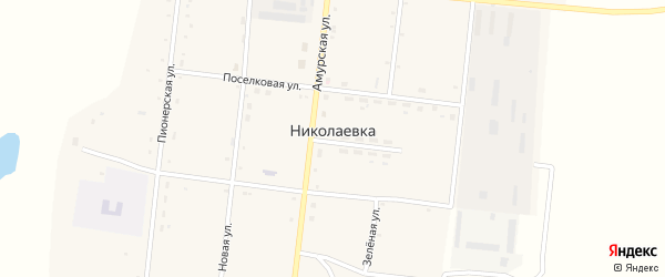 Улица Новостроек на карте села Николаевки с номерами домов