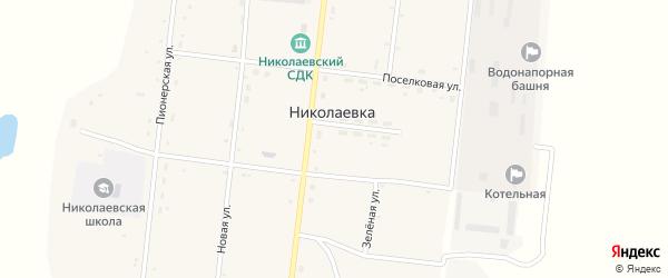 Амурская улица на карте села Николаевки с номерами домов