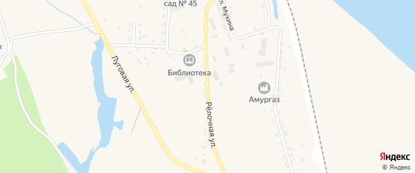 Релочная улица на карте села Белогорья с номерами домов