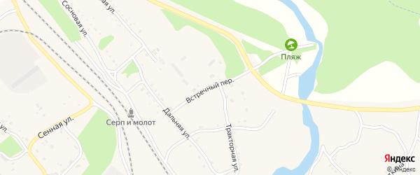 Встречный переулок на карте Шимановска с номерами домов
