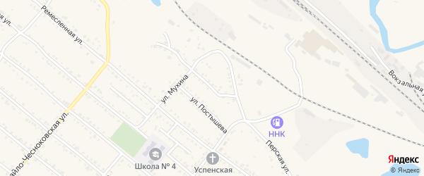 Безымянная улица на карте Шимановска с номерами домов