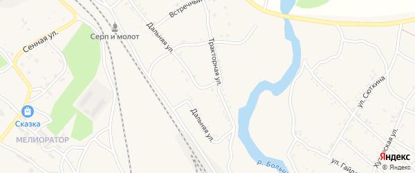 Сельская улица на карте Шимановска с номерами домов