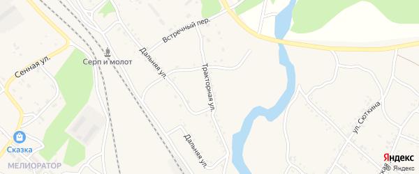 Тракторная улица на карте Шимановска с номерами домов
