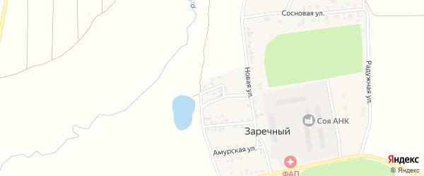 Приозерная улица на карте Заречного поселка с номерами домов