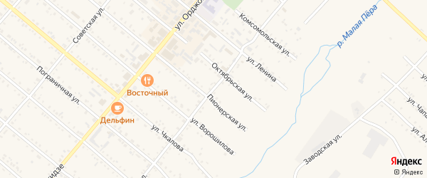 Волочаевская улица на карте Шимановска с номерами домов